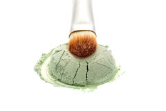 Green eyeshadow powder Royalty Free Stock Images