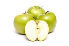 green för äpplen fyra Royaltyfri Fotografi