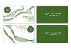 green för affärskort Fotografering för Bildbyråer