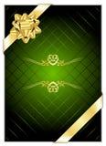 green för bakgrundsbowguld vektor illustrationer