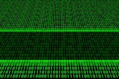 green för binär kod Royaltyfri Bild