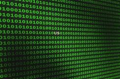 green för binär kod Området namnger USA fotografering för bildbyråer