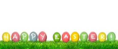 green för easter ägggräs Semestrar lycklig påsk för baner Arkivbild