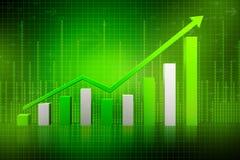 green för graf 3d Arkivbilder