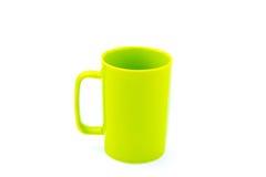 green för kaffekopp Arkivbild