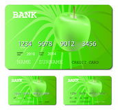 green för kortkrediteringsdebitering Royaltyfri Foto