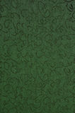 Green Fabric. With abstract swirl designs Stock Images