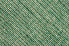 Green fabric background. Green striped  fabric as background Stock Photography