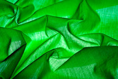 Green fabric background Royalty Free Stock Photos