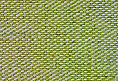 Green fabric background. Close up background of green and white fabric Stock Photography