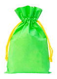Green Fabric bag Royalty Free Stock Images