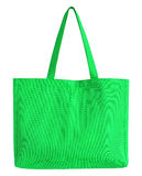Green fabric bag isolated on white Royalty Free Stock Photos