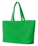 Green fabric bag isolated on white Royalty Free Stock Image
