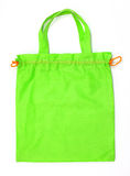 Green fabric bag Royalty Free Stock Photos
