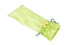 Green fabric bag Stock Photo