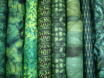 Green Fabric Bolts Royalty Free Stock Images