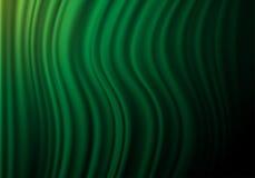 Green fabric curtain wave on black shadow vector. Illustration stock illustration