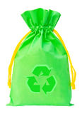 Green Fabric eco recycle bag Royalty Free Stock Photos