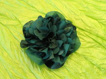 Green fabric flower Stock Image