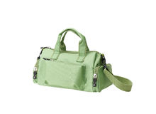 Green fabric lady handbag Stock Photography
