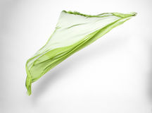 Green fabric in motion Royalty Free Stock Images