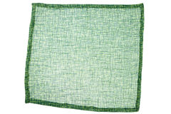 Green fabric napkin Stock Photos