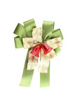 Green fabric ribbon. Green fabric ribbon on white background with clipping paths Stock Photo