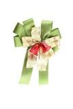 Green fabric ribbon. Stock Photo