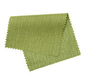 green fabric sample isolated on white  Royalty Free Stock Image