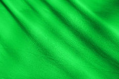 Green fabric texture background Royalty Free Stock Images