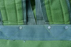 Green fabric texture from shlek on backpack stock photo
