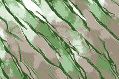 Green fabrics floating in the wind backlit with sun stock illustration