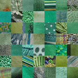 GREEN fabrics patchwork background Royalty Free Stock Image