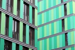 Green facade. A new green House facade Royalty Free Stock Images