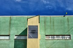 Facade of an industrial building Royalty Free Stock Photography