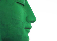 Green face Royalty Free Stock Photos