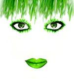 Green face Stock Photos