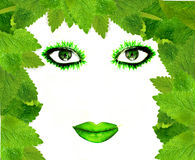 Green face Royalty Free Stock Image