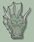 Green face dragon Royalty Free Stock Photos