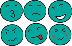 Green face emotion Stock Images