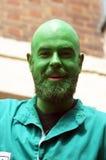 Green face man portrait Stock Photo