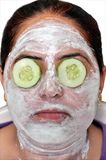 Green face pack Royalty Free Stock Photos