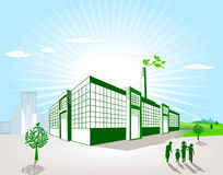 Green factory Royalty Free Stock Photos