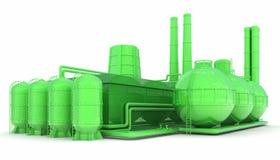 Green factory Stock Photos