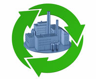 Green Factory Royalty Free Stock Photography