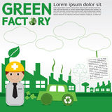 Green Factory Conceptual. Royalty Free Stock Photography