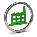 Green factory icon Royalty Free Stock Photos