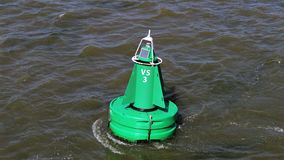 Green fairway buoy royalty free stock photography
