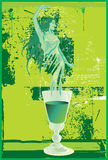 Green Fairy Absinthe. A Haunting Green Fairy From Absinthe Royalty Free Stock Photos