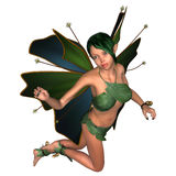 Green Fairy Butterfly Stock Image